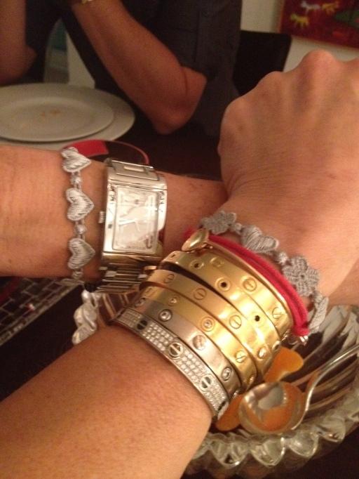 laurie jennings, cruciani bracelet