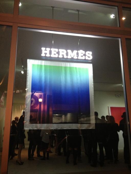 hermes, art basel, couleurs de l'ombre,miami design district, hiroshi sugimoto, scarves, the best dress up