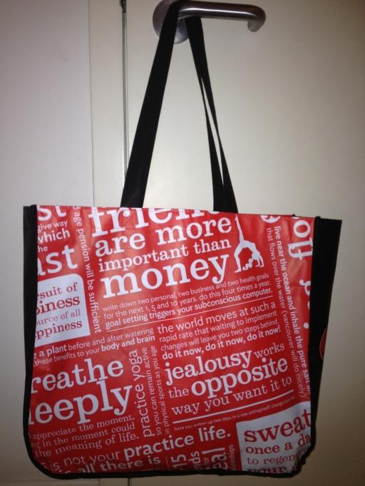 bag, lululemon. lululemon canada, friends, money, sayings, the best dress up