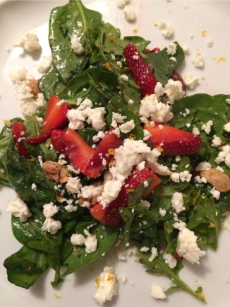 summer salad, strawberry, greens, the best dress up